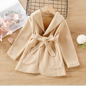 🐻New Toddler Girls Belted Coat 3-4 Years🐻